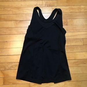 lululemon athletics Black Open Back Workout Tank
